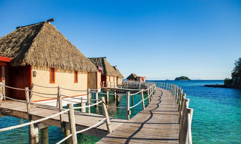 Likuliku Lagoon Resort Fiji Over Water Bures Natural Ocean