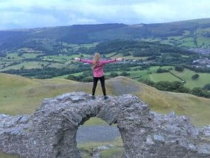 Visiting Castell Dinas Bran in Llangollen, Wales